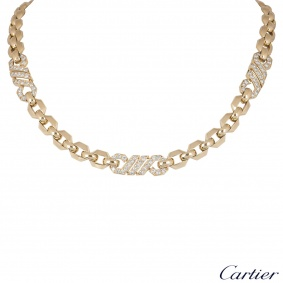 Cartier Yellow Gold Diamond Necklace
